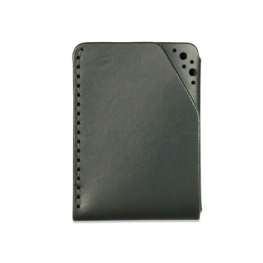 Fiáin   Brogue Leather Card Wallet   Black