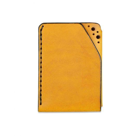 Fiáin   Brogue Leather Card Wallet   Tan