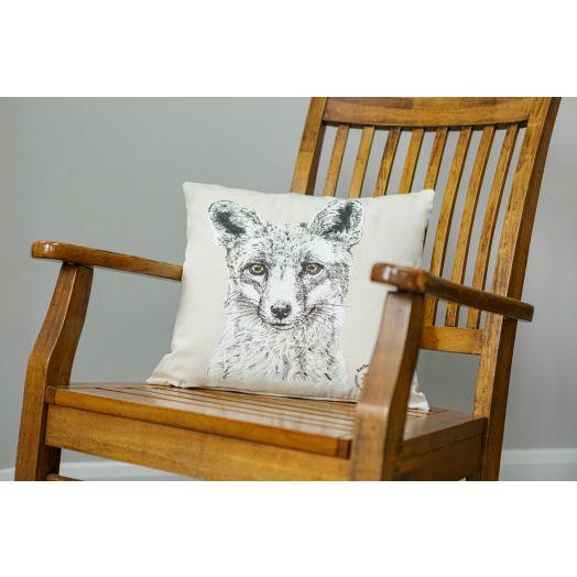 Rachel Dubber | Fox Cotton Cushion Cover