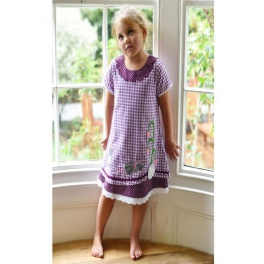 Powell Craft | Mouse Dress-Purple Check