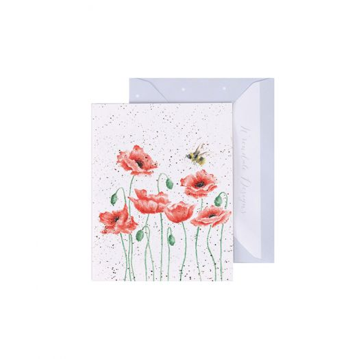 Wrendale | Poppies and Bee Card