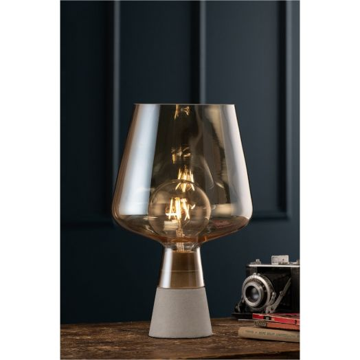 Galway Crystal | Glass Table Lamp - Amber