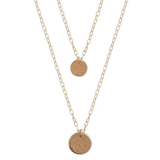 Lulu and Belle | Layered Gold Disc Necklace