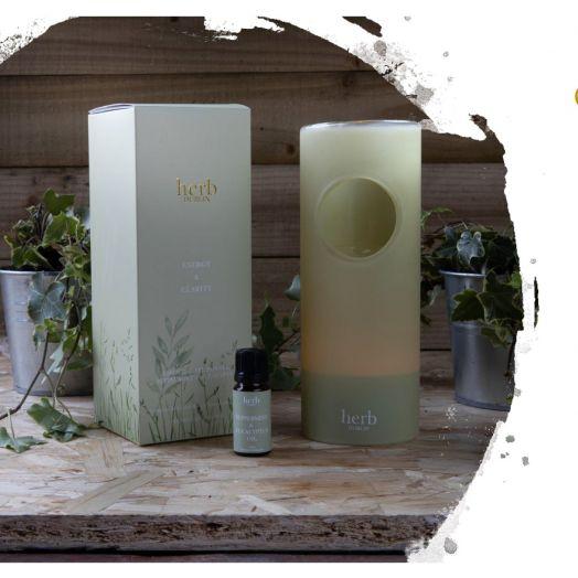 Herb Dublin   Essential Oil Burner - Peppermint and Eucalyptus