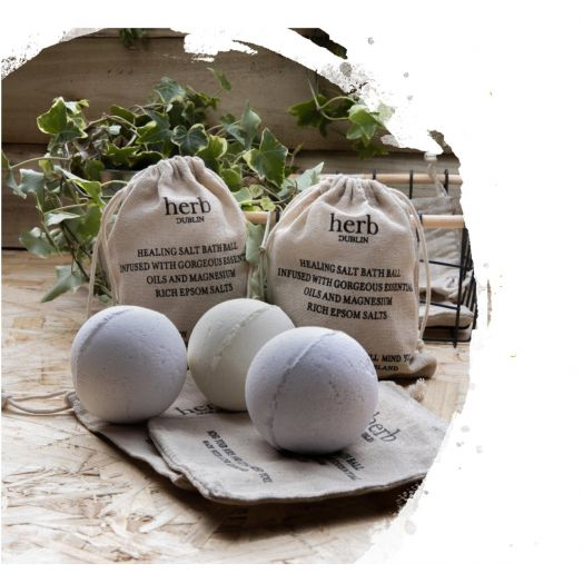 Herb Dublin   Herb Bath Ball - Sandalwood and Rose