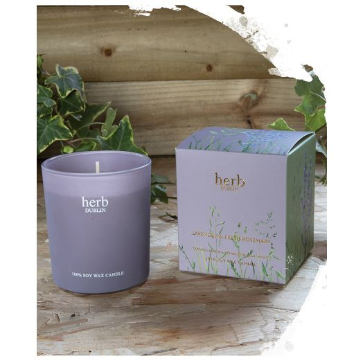 Herb Dublin | Lavender and Fresh Rosemary Boxed Candle