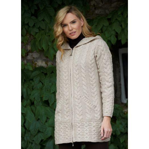 West End Knitwear | Hooded Zip Cardigan HD4025 -Parsnip