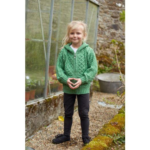 West End Knitwear | Children's Zip Up Hoodie HD4039- Green Marl