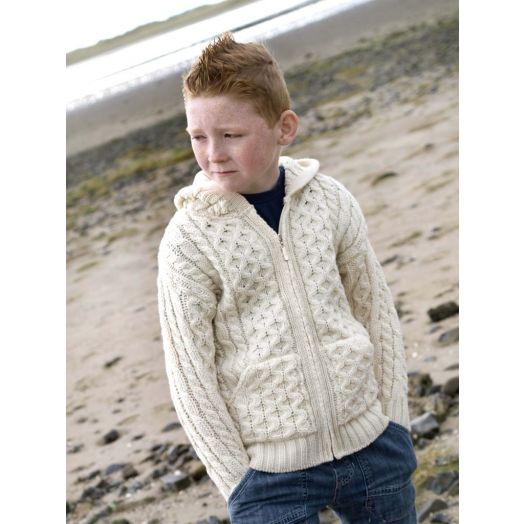 West End Knitwear | Children's Zip Up Hoodie - Natural