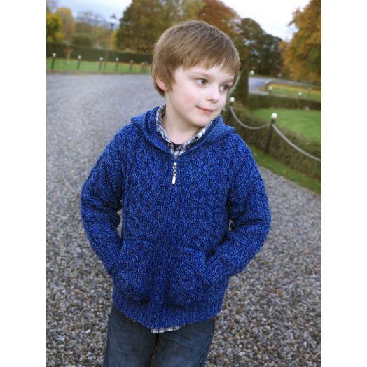 West End Knitwear | Children's Zip Up Hoodie HD4039- Blue Marl