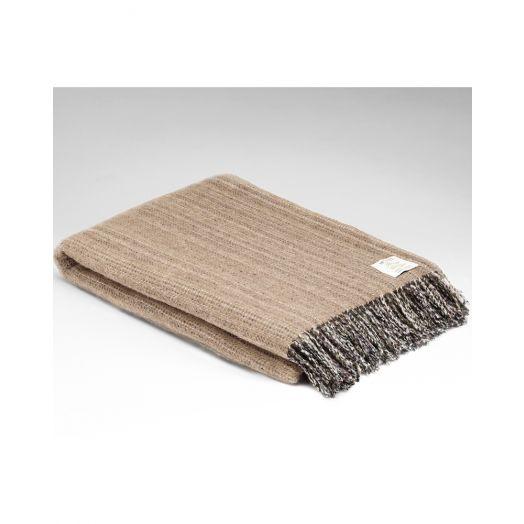 Mcnutt   Heritage Tweed Throw- Oatmeal