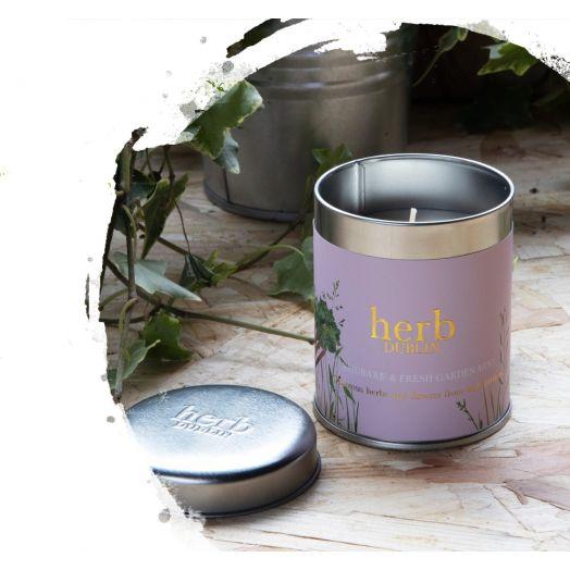 Herb Dublin   Rhubarb Candle - Tin