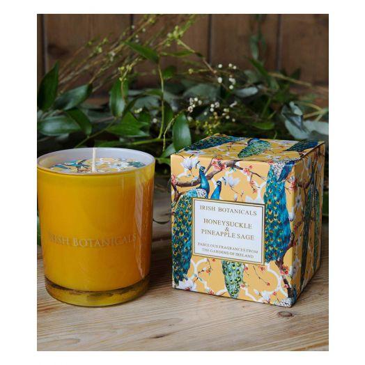 Irish Botanicals | Honeysuckle and Pineapple Sage Candle