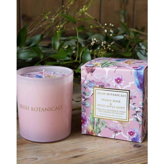 Irish Botanicals | Peony Rose and Wild Apple Mint Candle