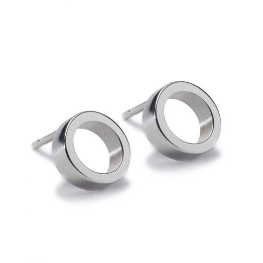 Maureen Lynch | Circles Small Silver Studs