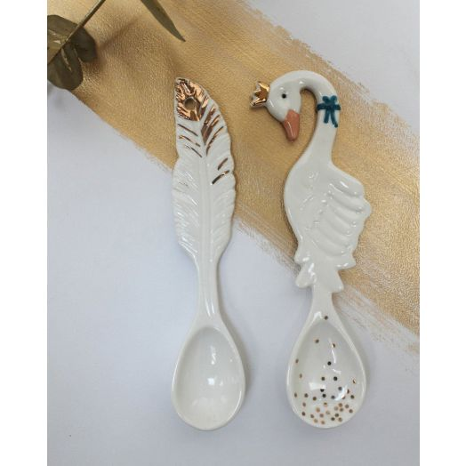 House of Disaster | Secret Garden Swan Spoon Set of Two