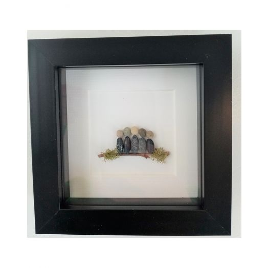 Simply Mourne | Mini Family of Five Frame- Black