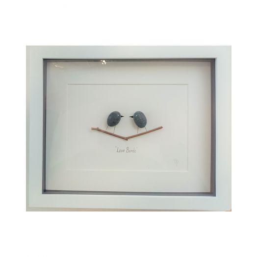 Simply Mourne | Lovebirds Medium Frame -White