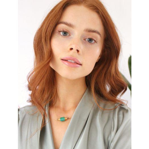 K Kajoux   Wilde Emerald Chain Necklace