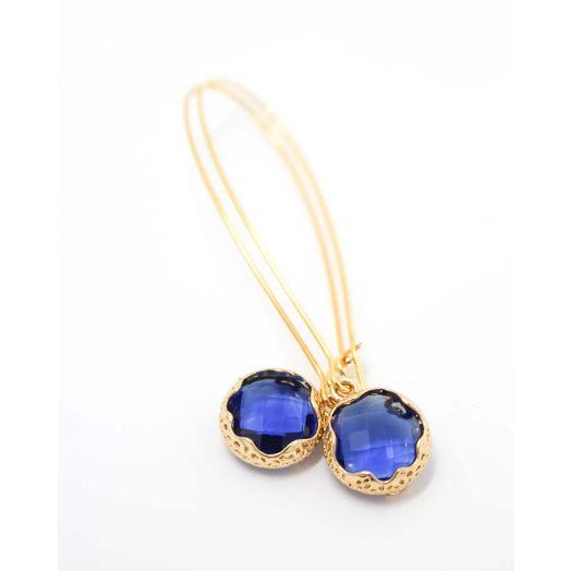 K Kajoux | Mini Zante Blue Earrings- Long