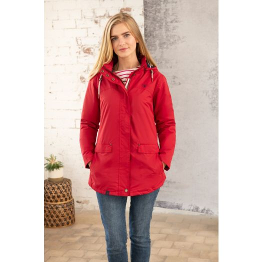 Lighthouse | Iona Short Waterproof Padded Jacket- Red