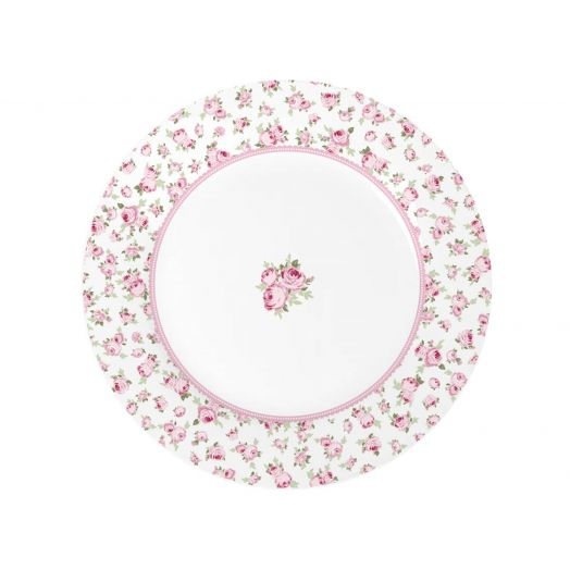 Isabelle Rose   Porcelain Large Plate with Flowers