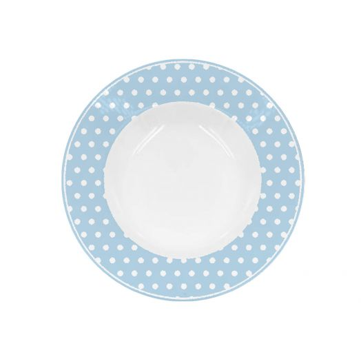 Isabelle Rose   Pastel Blue Polka Dot Soup Plate