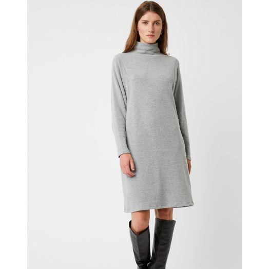 Great Plains | Kitten Soft Knit High Neck Dress- Grey