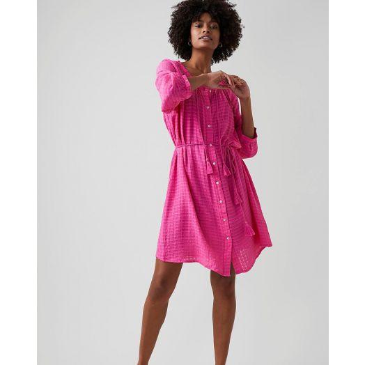 Great Plains | Gina Button Dress - Pop Pink