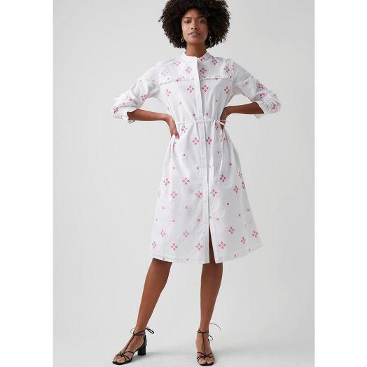 Great Plains | Chintz Cotton Dress- Pink/ White