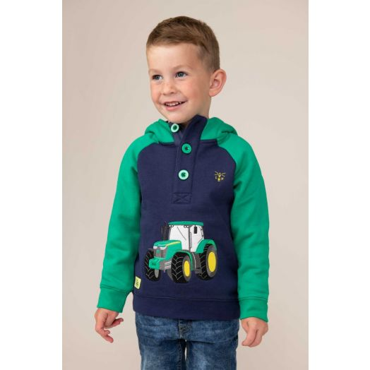 Lighthouse   Jack Tractor Print Hoodie - Green