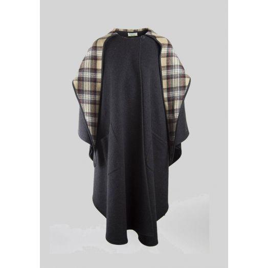 Jimmy Hourihan | 100% Wool Hooded Cape | Charcoal