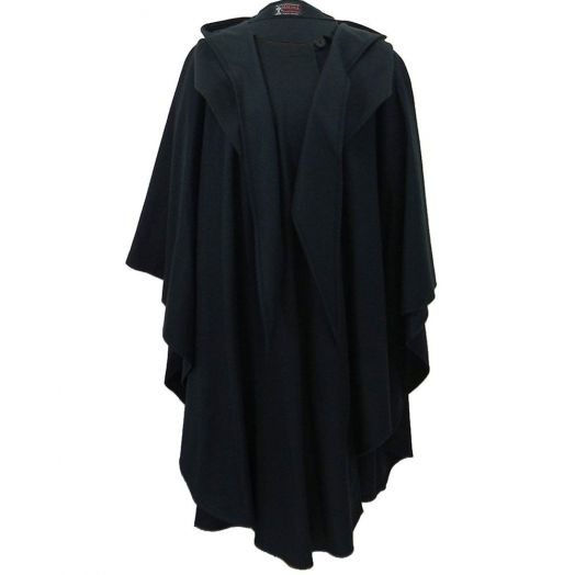 Jimmy Hourihan |Wool and Cashmere Cape | Black-One-Size