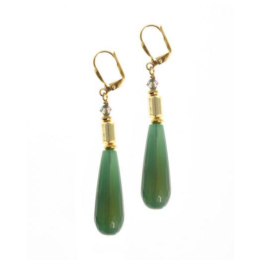 K Kajoux | Wild Emerald Drop Earrings