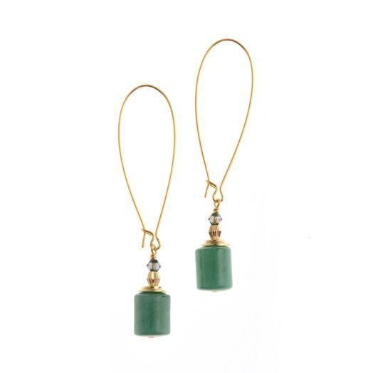 K Kajoux | Wild Emerald Column Earrings