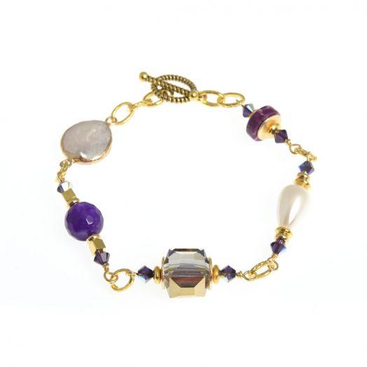 K Kajoux   Corcra Link Bracelet