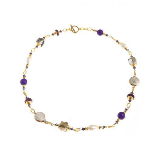 K Kajoux   Corcra Link Necklace