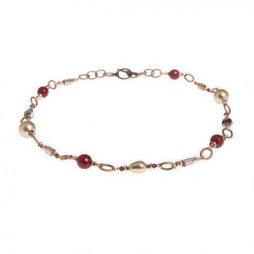 K Kajoux   Sugar Plum Link Necklace