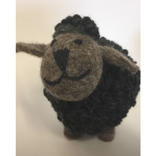 Knitted Charcoal Sheep | Large