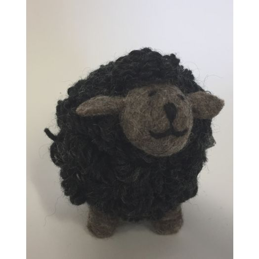 Knitted Charcoal Sheep | Med