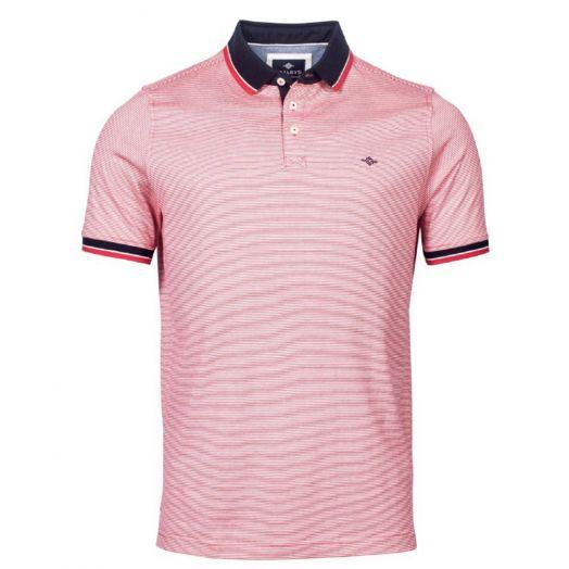 Bailey's | Stripe Polo Shirt- Red