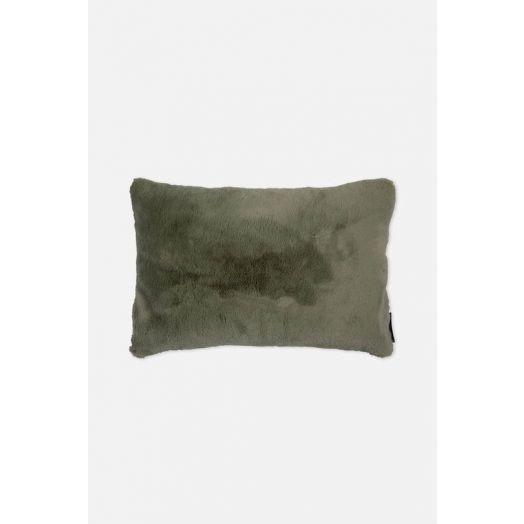 Rino & Pelle | Lavoya Faux Fur Cushion - Mistletoe Green