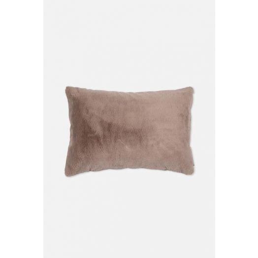 Rino & Pelle | Lavoya Faux Fur Cushion - Silver Cloud