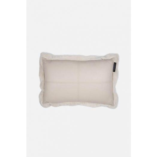Rino & Pelle | Vegan Faux Fur Leather Cushion - Birch