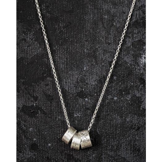 Lynsey De Burca | Float Silver Tube Necklace