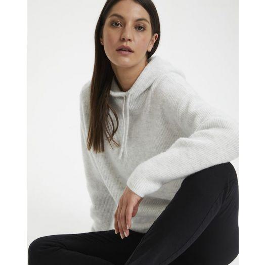Kaffe | Kamarissa Knitted Pullover - Light Grey