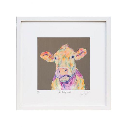 Lorraine Fletcher | Lickity Moo Frame Print - Small