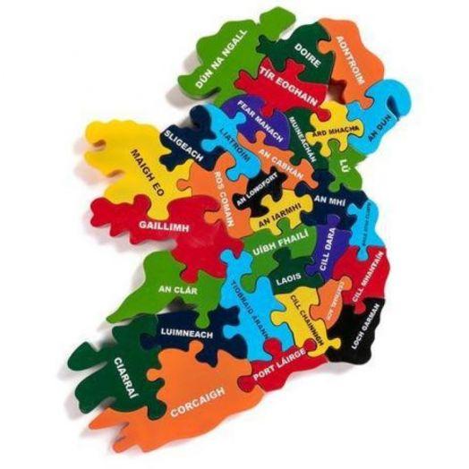 Alphabet Jigsaws   Map of Eire-Irish language Jigsaw Puzzle