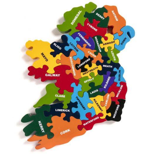 Alphabet Jigsaws   Map of Ireland Jigsaw Puzzle