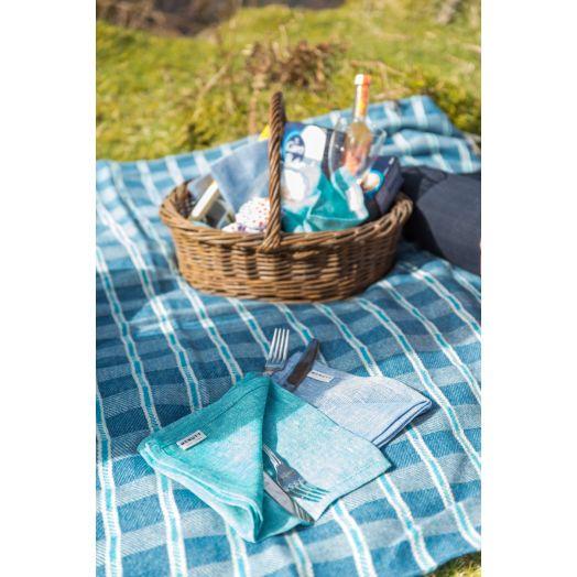 Mcnutt | Waterproof Picnic Blanket- Blue